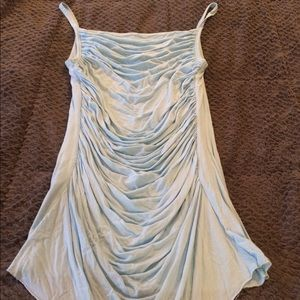 Bailey 44 Light Blue Gathered Cami Top M